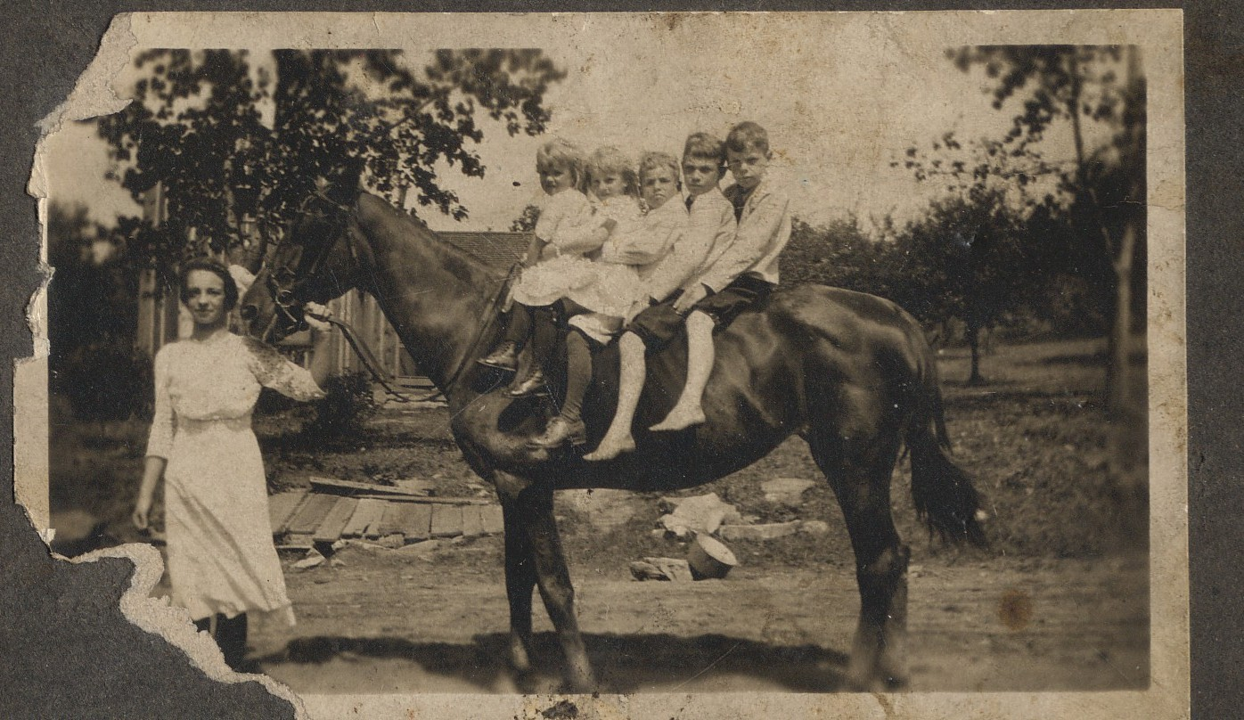 McCoy Kids on Horse